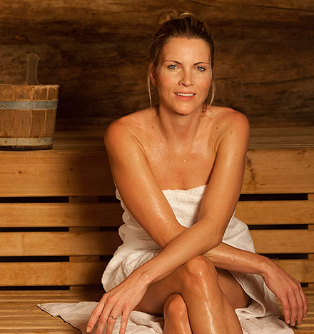 Sauna und Wellness in der Therme